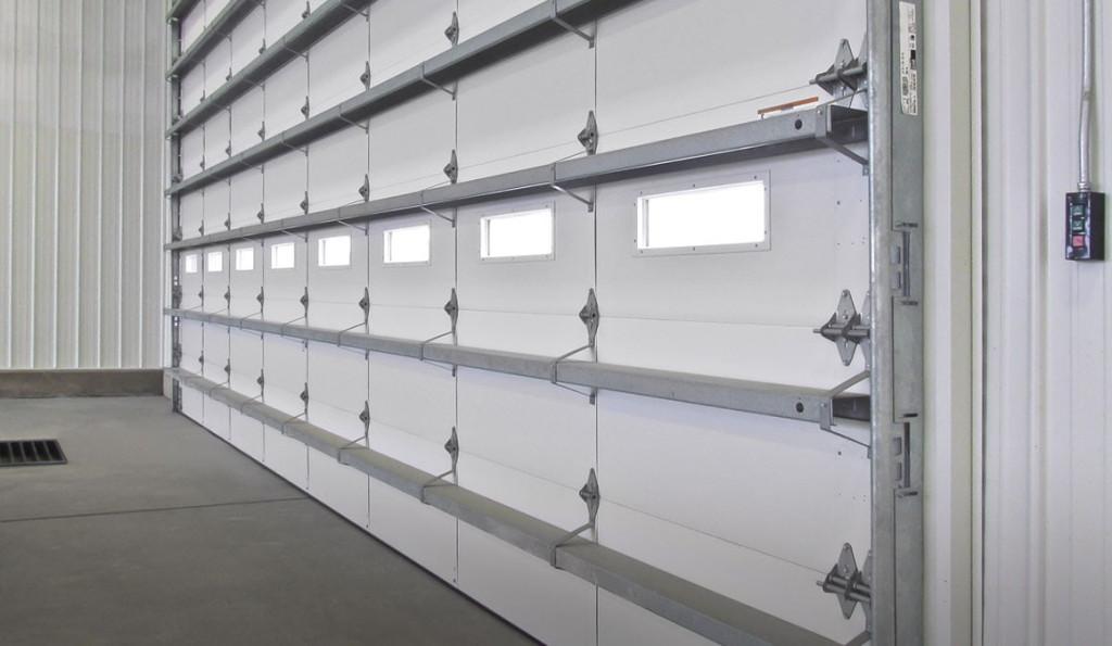 inside of commercial garage door