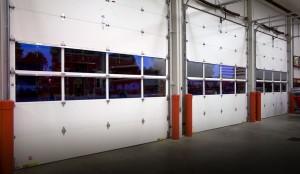 white Clopay commercial doors in Edina, MN