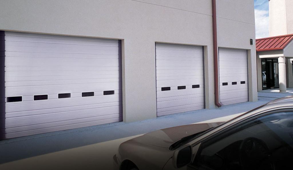 Clopay ribbed steel commercial garage doors