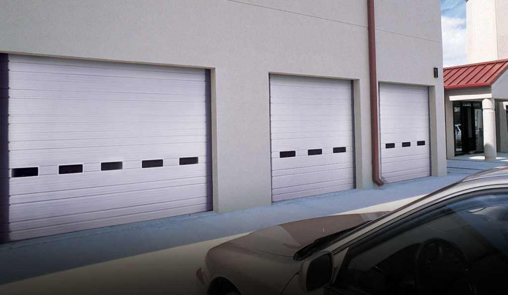 Clopay ribbed steel commercial garage doors