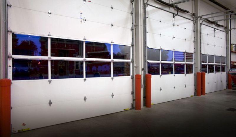 white commercial doors